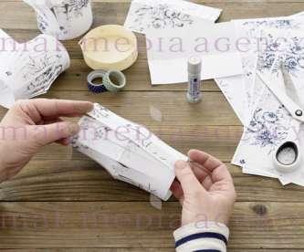 Papierlaterne weiß